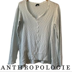 Anthropologie Left Center Centerline Slubbed Top